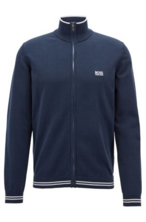 Hugo Boss Zome Zipped Cardigan in Blue category image