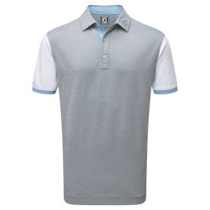 FootJoy Stretch Pique Colour Block Polo Shirt with Contrast Trim in Grey category image