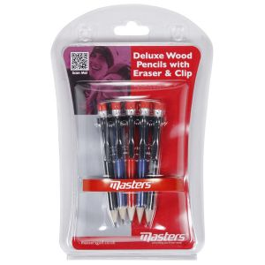 Masters Deluxe Wood Pencils with Eraser and Clip category image