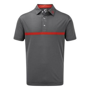 FootJoy Mens Engineered Nailhead Jacquard Polo Shirt In Gre and Red #90057 category image