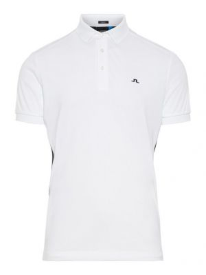 J.Lindeberg M Dario Slim Fit TX Jersey Polo Shirt in White and Navy #92MG676045615 category image