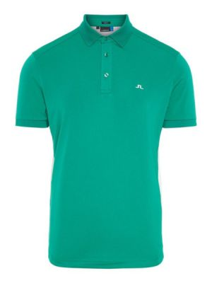 J.Lindeberg M Dario Slim Fit TX Jersey Polo Shirt in  Golf Green and White #92MG676045615 category image