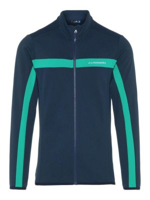 J.Lindeberg Jarvis Feildsensor Light Jacket in Navy and Golf Green #92MG652335646 category image