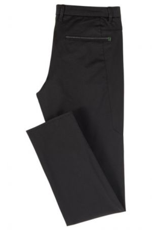 BOSS Hugo Boss Leeman 3-9 Regular-fit Trousers in Satin-Touch Ttretch Fabric Black #50399911 category image