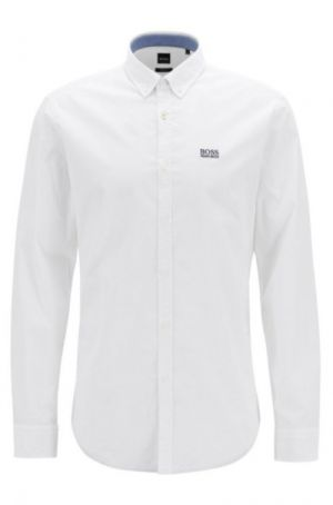 BOSS Hugo Boss Biado-R Button-Down Shirt in stretch cotton with moisture management in White #50403163 category image