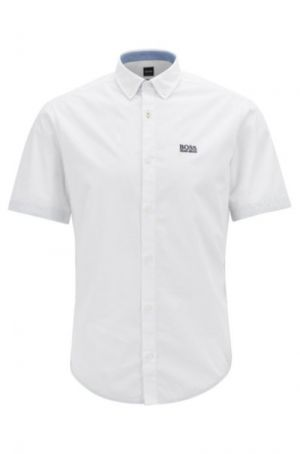 BOSS Hugo Boss Biadia-R Regular-Fit Shirt with Button Down Collar in White #50403109 category image