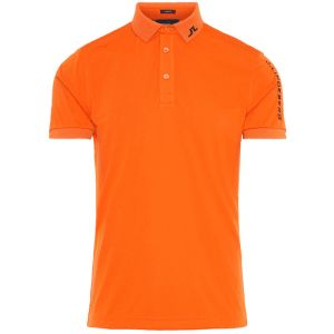 J.Lindeberg Tour Tech Polo Shirt in Orange category image