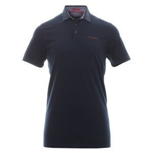 Ted Baker Newing Woven Colar Polo Shirt in Navy #160096 category image