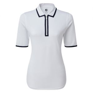 Ladies FootJoy Zip Placket Pique 1/2 Sleeve Shirt category image