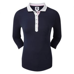 Ladies FootJoy Baby Pique 3/4 Sleeve Shirt with Contrast Trim category image