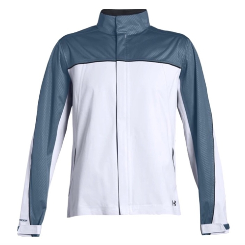 Under Armour Mens Storm Rain Jacket in White 1344085