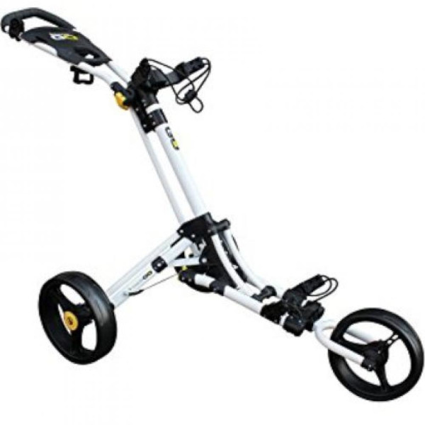 Masters iCart Go- 3 Wheel Push Trolley in White/Yellow