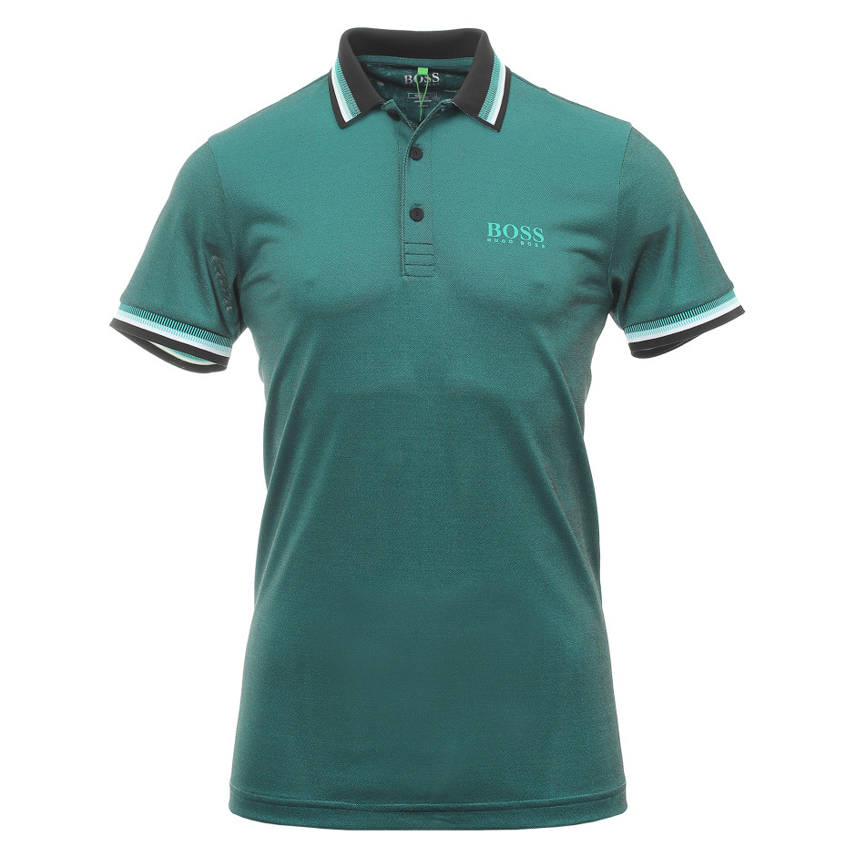 BOSS Hugo Boss Paule Pro 4 Polo Shirt in Green/Black # 500412560